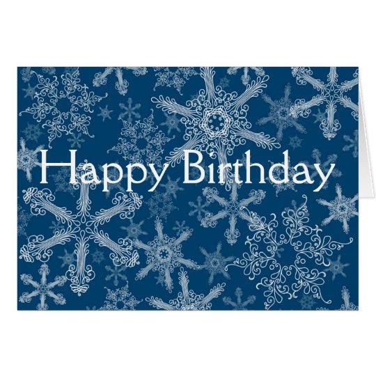 Happy Birthday snowflakes Card