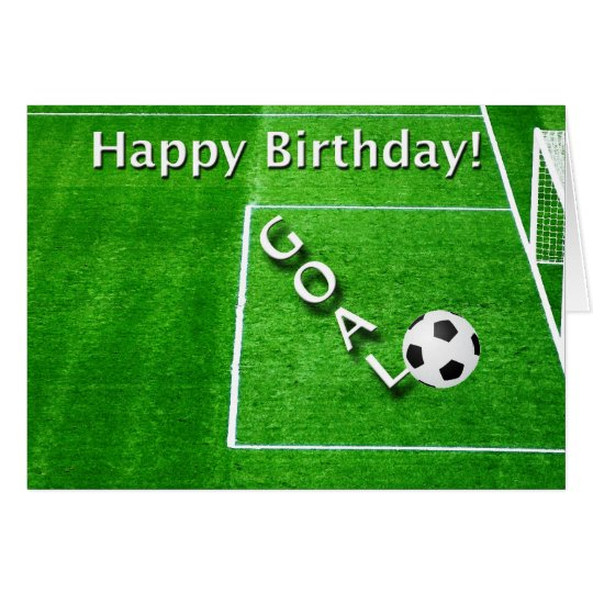Happy Birthday Soccer Player Card