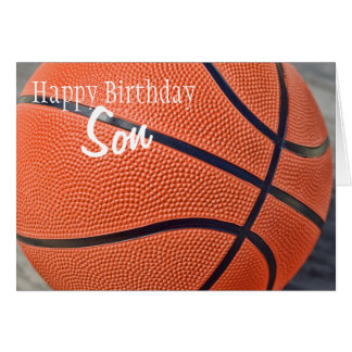 Happy Birthday Son Basketball Card