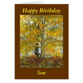 """Happy Birthday Son"" Card"