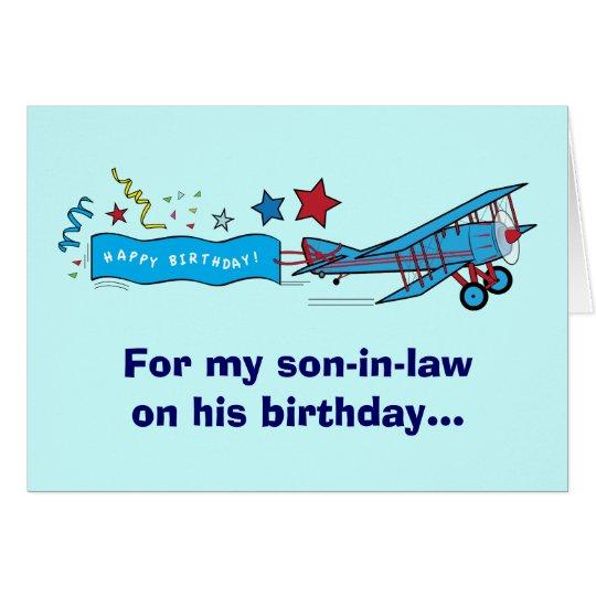 Happy Birthday Son-in-Law Aeroplane Card