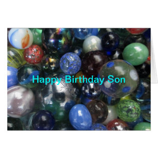 Happy Birthday Son Marbles Card