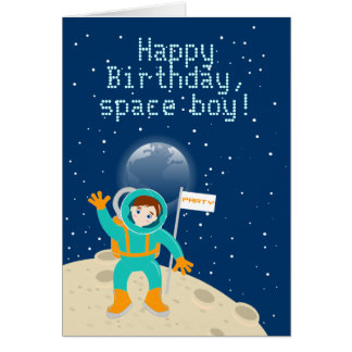 Happy Birthday space boy Card
