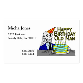 Happy Birthday Spider Web Old Man Business Card