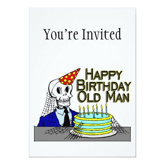 Happy Birthday Spider Web Old Man Card