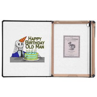Happy Birthday Spider Web Old Man iPad Case