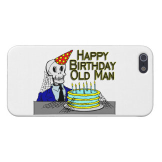 Happy Birthday Spider Web Old Man Cases For iPhone 5