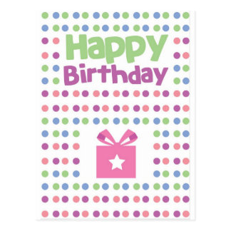 Happy Birthday spotty card Postcard