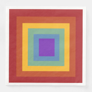 Happy Birthday Square Rainbow Napkins Paper Napkin