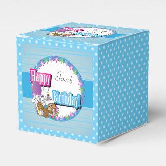 Happy Birthday Squirrel - Blue Favour Box