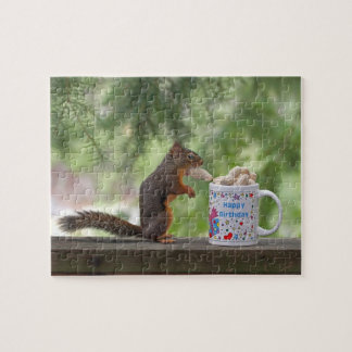 Happy Birthday Squirrel Jigsaw Puzzle