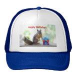 Happy Birthday Squirrel Mesh Hat