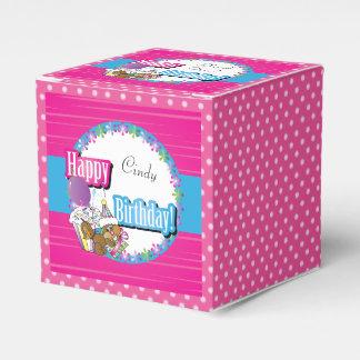 Happy Birthday Squirrel - Pink Favour Box