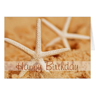 Happy Birthday Starfish Card