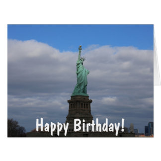 Happy Birthday Statue of Liberty NYC Big Greeting Card