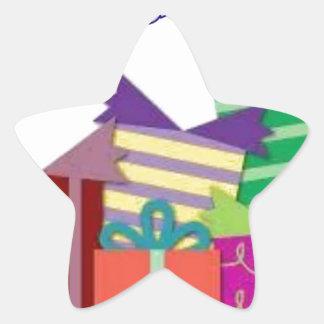 Happy birthday star sticker