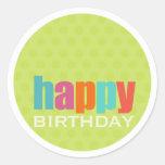 Happy Birthday Sticker2 Round Stickers