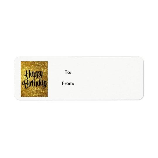 Happy Birthday Sticker Gift Tag