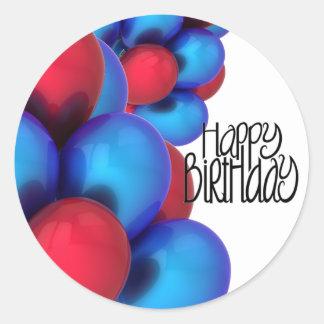 Happy Birthday Stickers and Envelope Seals