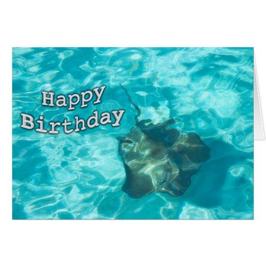 Happy Birthday Sting Ray Card
