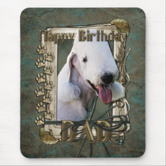 Happy Birthday - Stone Paws Bedlington Terrier Dad Mouse Pad