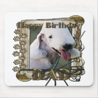 Happy Birthday - Stone Paws Bedlington Terrier Dad Mouse Pads
