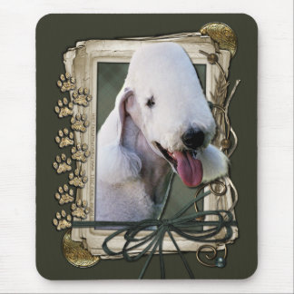 Happy Birthday - Stone Paws - Bedlington Terrier Mouse Pad