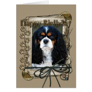 Happy Birthday - Stone Paws - Cavalier Card
