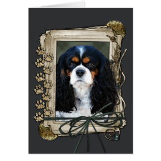 Happy Birthday - Stone Paws - Cavalier Card