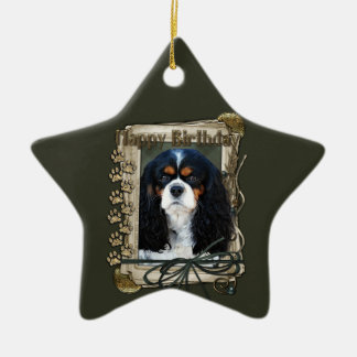 Happy Birthday - Stone Paws - Cavalier Ceramic Star Decoration