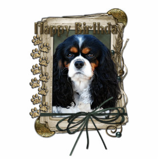 Happy Birthday - Stone Paws - Cavalier Photo Cut Out