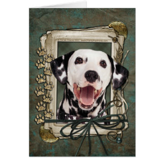 Happy Birthday - Stone Paws - Dalmatian Card