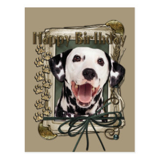 Happy Birthday - Stone Paws - Dalmatian Postcard