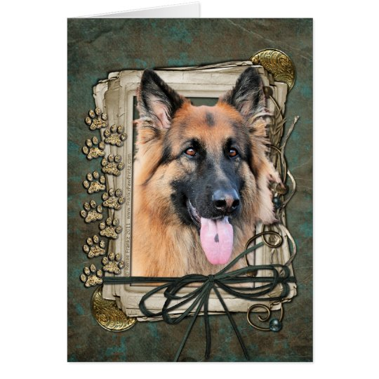 Happy Birthday - Stone Paws German Shepherd Chance