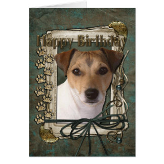 Happy Birthday - Stone Paws - Jack Russell Card