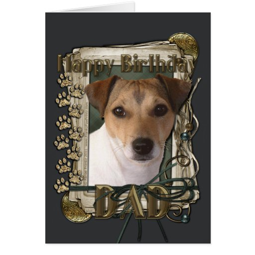 Happy Birthday - Stone Paws - Jack Russell - Dad
