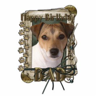 Happy Birthday - Stone Paws - Jack Russell - Dad Photo Cutouts