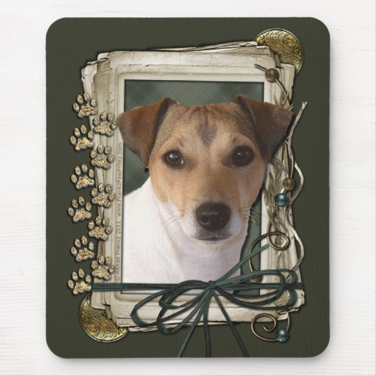 Happy Birthday - Stone Paws - Jack Russell Mouse Pad