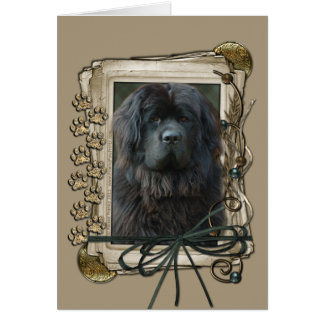 Happy Birthday - Stone Paws - Newfoundland Card
