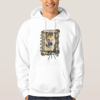 Happy Birthday - Stone Paws -Siberian Husky Copper Hooded Pullover