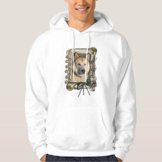 Happy Birthday - Stone Paws -Siberian Husky Copper Hoodie