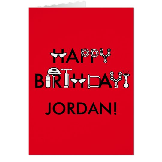 Happy Birthday Stylised and Personalised Card
