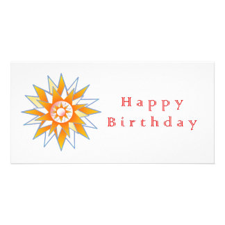 Happy Birthday Sun Energy Chakra Customised Photo Card