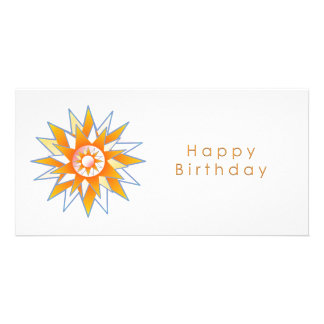 Happy Birthday Sun Energy Chakra Personalized Photo Card