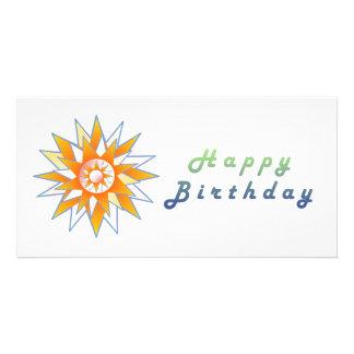Happy Birthday Sun Energy Chakra Photo Card Template