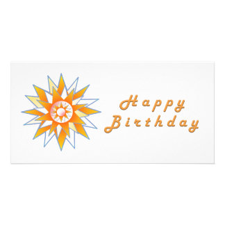 Happy Birthday Sun Energy Chakra Picture Card