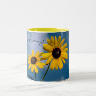 Happy Birthday Sunflower Mug