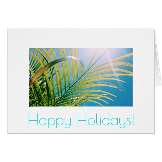 Happy Birthday Sunny Palm Tree Greeting Card