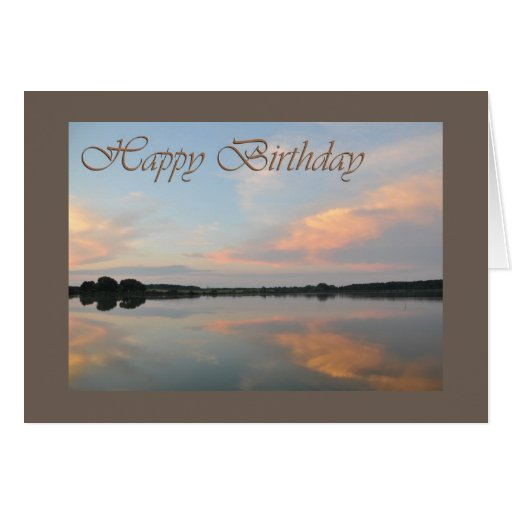 Happy birthday sunrise at the lake cards