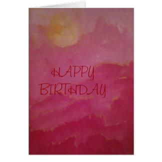HAPPY BIRTHDAY SUNRISE/SUNSET GREETING CARD